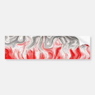 BLACK WHITE RED FLAMES CONFUSION EMO EMOTIONS ABST BUMPER STICKER