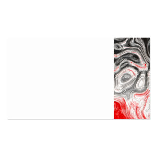BLACK WHITE RED FLAMES CONFUSION EMO EMOTIONS ABST BUSINESS CARD