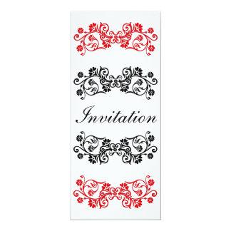 Black White & Red Invitation