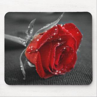 Black/White/Red Mousemat