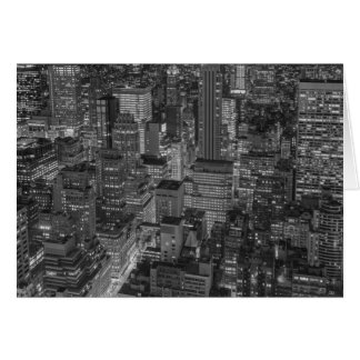 Black White Red New York City Skyline Card