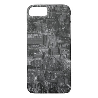 Black White Red New York City Skyline iPhone 8/7 Case