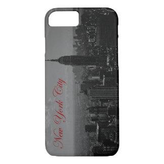 Black White Red Script New York iPhone 7 Case