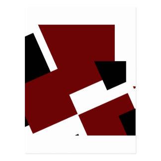 Black,white & Red Squares Postcard
