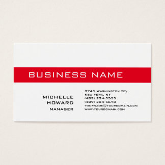 Black & White Red Stripe Charming Manager Business Card