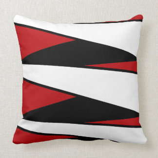 Black Red Striped PillowsDecorativeThrow PillowsZazzle