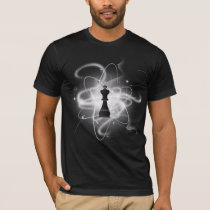 Black & White Retro Atomic Chess Piece - King T-Shirt