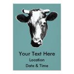 Black & White Retro Cow Graphic Announcement