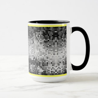 Black & White Retro DiscoBall Mirrors Pattern Mug
