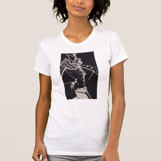 Black & White Retro High Fashion Sketch T-Shirt