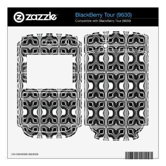 black white retro pattern BlackBerry decals
