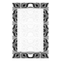 Black White Retro Pattern Flyer
