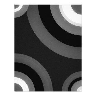 Black&White Retro Pattern Letterhead