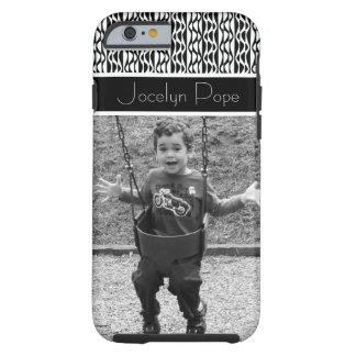Black & White Retro Patterns & Beloved Photo Tough iPhone 6 Case