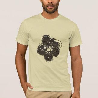 Black & White Retro Sketchy Flowers Men's T-shirt