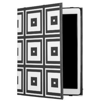 Black White Retro Squares iPad Pro Case