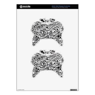 Black&White Retro Style Pattern Polka-Dot Xbox 360 Controller Skin