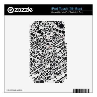 Black&White Retro Style Pattern Polka-Dot iPod Touch 4G Decals