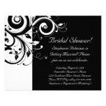 Black, White, Reverse Swirl Bridal Shower/ General Invitations