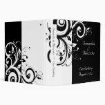 Black + White Reverse Swirl Wedding Binder