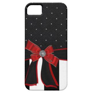 Black & White Rhinestone and Bow Iphone Case iPhone 5 Case