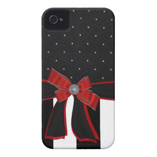 Black & White Rhinestone and Bow Iphone Case