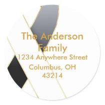 Black & White Ribbon Address Labels