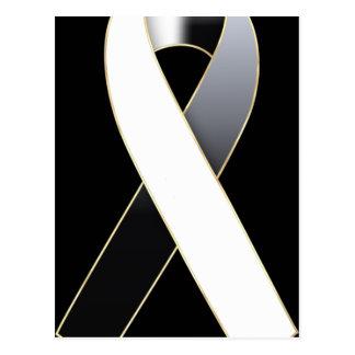 Black & White Ribbon Awareness Postcards