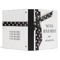 Black & White Ribbon binder