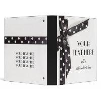 Black & White Ribbon binder