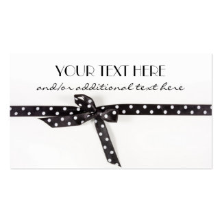 Black & White Ribbon Double-Sided Standard Business Cards (Pack Of 100)