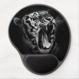 Black & White Roaring Tiger Gel Mouse Pad