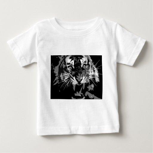 Black & White Roaring Tiger T Shirt
