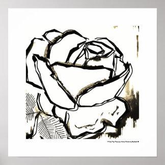 Black White Rose Cool Pop Rose Poster Art Prints