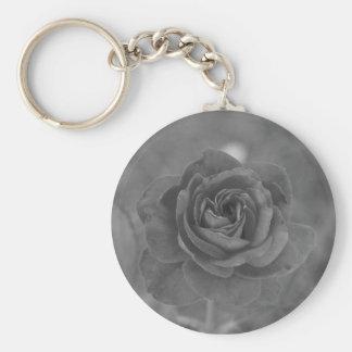 Black & White Rose Keychain