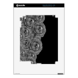 Black&White Roses Decals For The iPad 2