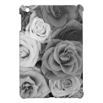 Black & White Roses Pattern Cover For The iPad Mini