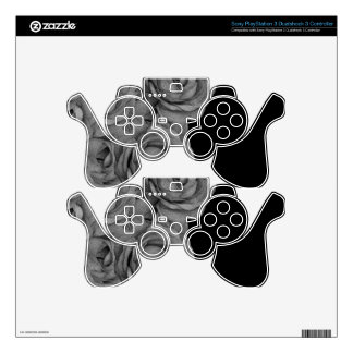Black&White Roses PS3 Controller Decals