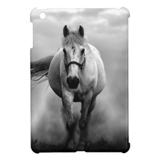 Black White Running Horse Freedom Cover For The iPad Mini