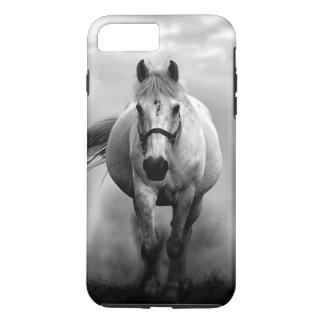 Black White Running Horse Freedom iPhone 8 Plus/7 Plus Case