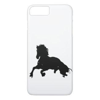 Black White Running Horse Silhouette iPhone 8 Plus/7 Plus Case