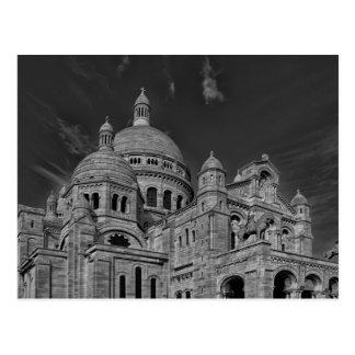 Black White Sacre Coeur Paris Europe Travel Postcard