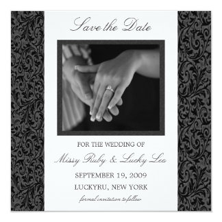 Black & White Save the Date Announcement