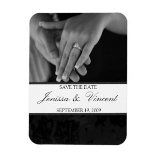 "Black & White Save the Date Magnet 3"" x 4"""