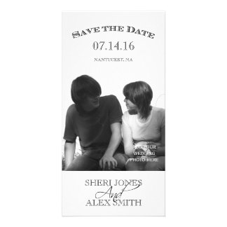 Black White Save the Date Photo Cards