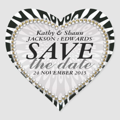 Black & White Save the Date Wedding Stickers