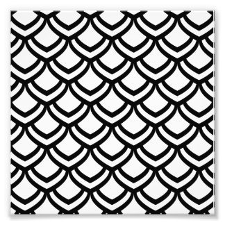Black & White Scales Pattern Photographic Print