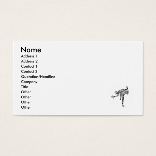 Black & White Scribble Pitcher Business Card
