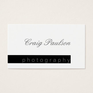 Black & White Script Photography Business Card