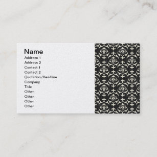 Black and white wallpaper business cards zazzle black white scroll swirl patterns backgrounds wall business card colourmoves